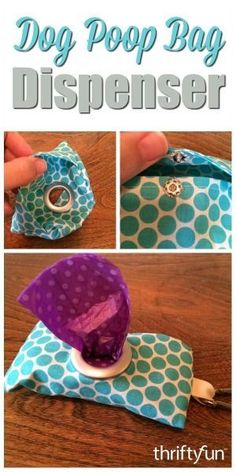 This is a guide about making a dog poop bag dispenser. If you are the crafty type, you will enjoy this project!