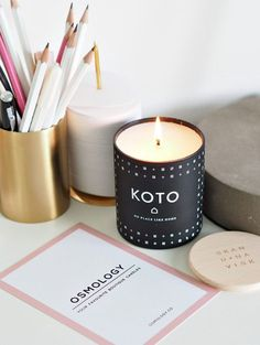 The KOTO Candle (Home) by Skandinavisk blends delicate notes of Baltic amber and schersmin with exotic mandarin and vanilla. Candle inspiration for Karen Gilbert. Glass Votive, Candle Jars, Finnish Words, Dried Orange Peel, Candle Branding, Photo Candles, Home Scents, Burning Candle, Smell Good