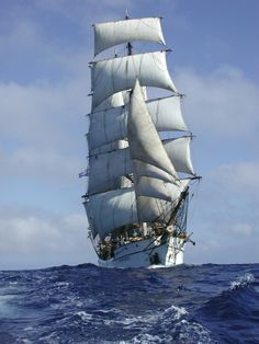 #Ships - Picton Castle, tall ship under full sail