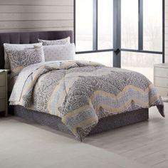 SON'S BEDROOM - BEDDING SET - Neville Comforter Set in Grey/Yellow - Full Size - $ 80.  http://www.bedbathandbeyond.com/store/product/neville-comforter-set-in-grey-yellow/3267276?skuId=&categoryId=12016&showRatings=true