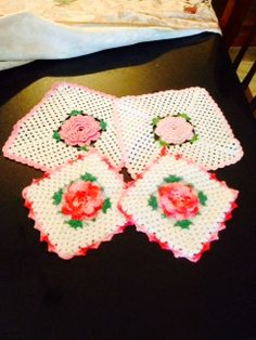 Crochet pot holders and doilies by KitchenKozy on Etsy, $3.00