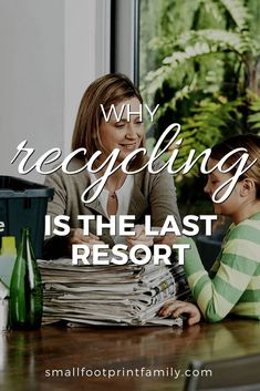 Recycling is what we do when we've exhausted all opportunities to redesign the product to be more durable, to reuse or repair it, or to simply do without it. #greenliving #greenparenting #ecofriendly #sustainability #gogreen #naturalliving #climatechange #recycling