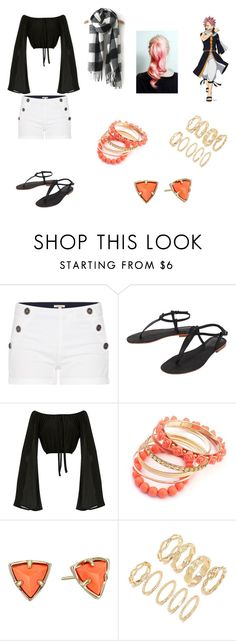 """""""Female Natsu Dragneel Fairy Tail"""" by opaldusk ❤ liked on Polyvore featuring Barbour, Cocobelle, Kendra Scott and Forever 21"""