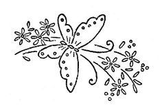 Irresistible Embroidery Patterns, Designs and Ideas. Awe Inspiring Irresistible Embroidery Patterns, Designs and Ideas. Baby Embroidery, Butterfly Embroidery, Learn Embroidery, Hand Embroidery Patterns, Vintage Embroidery, Cross Stitch Embroidery, Machine Embroidery, Embroidery Sampler, Butterfly Pattern