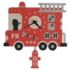 Fire Truck Pendulum Clock