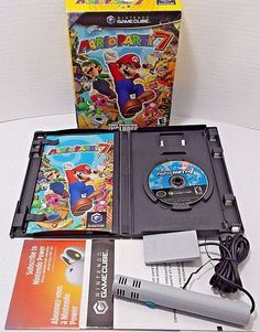 Mario Party 7 Gamecube Nintendo 2005 Game Complete W Microphone