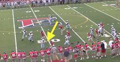 Female kicker rocks opposing player with giant hit on kick return