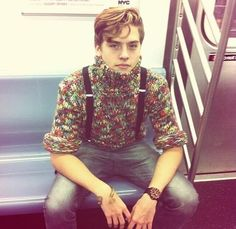 Dylan Sprouse Style In Subway