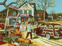 Going to Grandma's House for Thanksgiving. Artwork by H. Thanksgiving Pictures, Vintage Thanksgiving, Thanksgiving Traditions, Family Thanksgiving, Vintage Holiday, Thanksgiving Wallpaper, Thanksgiving Greetings, Vintage Halloween, Norman Rockwell