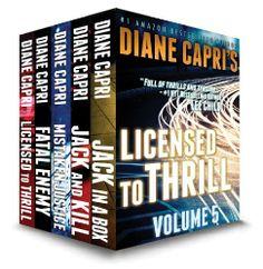 11/20/13 3.4 out of 5 stars Licensed to Thrill: Volume 5 (Mystery Thriller Suspense Stories) by Diane Capri, http://www.amazon.com/dp/B00A9JUMIM/ref=cm_sw_r_pi_dp_xUwJsb00ET406