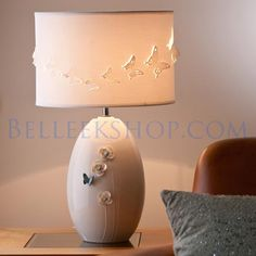 The Belleek Shop Irish Pottery, Belleek Pottery, Outdoor Spaces, Design Elements, Ireland, Home Goods, Table Lamp, Shades, Contemporary