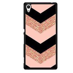 Pink Glitter Chevron TATUM-8682 Sony Phonecase Cover For Xperia Z1, Xperia Z2, Xperia Z3, Xperia Z4, Xperia Z5