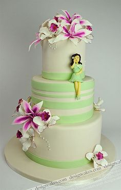 Bridal shower cake by Design Cakes, via Flickr
