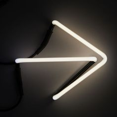 Seletti Neon Font Shaped Wall Light - Arrow ($38) ❤ liked on Polyvore featuring home, lighting, backgrounds, photos, black, filler, signs, text, phrase and quotes