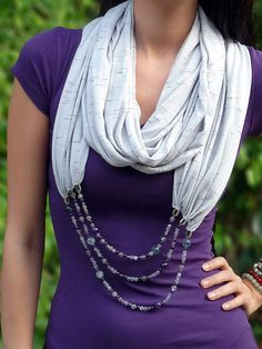 Mindful Balance Scarf Necklace