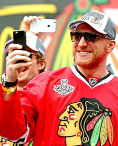 Marian Hossa at the 2015 rally.