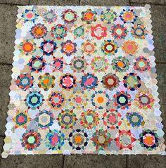 Rose Star quilt, lovely.