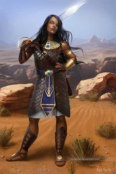 f Fighter Egyptian Temple Guard Scale Armor Sword farmland hills Egyptian fantasy warrior design Fantasy Portraits, Character Portraits, Character Art, Character Ideas, Dnd Characters, Fantasy Characters, Female Characters, Fantasy Armor, Medieval Fantasy