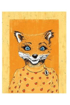 """Fox's Fox Years"""" - Officially Signed, Dated and Hand-Stamped Art Print Fantastic Fox, Wes Anderson Movies, Fox Painting, Fox Drawing, Indie Art, Poster Prints, Art Prints, Mixed Media Artwork, Fox Art"""