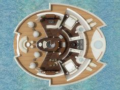 Italian industrial designer Michele Puzzolante designed this conceptual floating luxury hotel suite powered by solar cells. The Solar Floating Resort is a Solar Energy Panels, Best Solar Panels, Solar Energy System, Solar Power, Floating Hotel, Floating Island, Floating Architecture, Building Architecture, Solar House