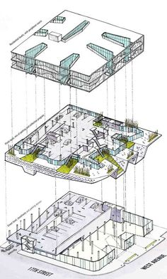 3D ARCHITECTURAL DIAGRAMS - Google Search                                                                                                                                                                                 More