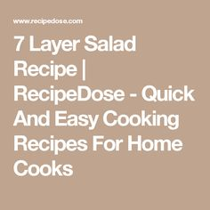 7 Layer Salad Recipe | RecipeDose - Quick And Easy Cooking Recipes For Home Cooks