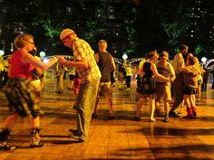 On the dance floor at Midsummer Night Swing!!