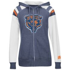 Women's Chicago Bears Nike Navy Blue Play Action Hooded Top