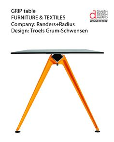 The 2012 Danish Design Award winners have been announced.     What do you think about the GRIP table, winner of the Furniture & Textiles category?