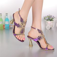 Women sandals,2015 new styles peacock high-heeled shoes thick thin wedges genuine leather rhinestone female sandals GS-L004VTC
