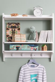 A chic double shelf unit for your child's bedroom, the Hege combines style with function. Featuring plenty of space to display your little one's most cherished items! Childrens Bedroom Furniture, Kids Bedroom, Coat Hooks, Bedroom Storage, Your Child, Storage Spaces, Shelf, Display, How To Plan