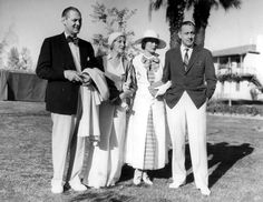 Lionel Barrymore and his wife, Irene Fenwick, and Dolores Costello and her husband, John Barrymore, in Palm Springs for a short vacation. Golden Age Of Hollywood, Vintage Hollywood, Hollywood Stars, Hollywood Icons, Classic Hollywood, Barrymore Family, John Barrymore, Vintage Photographs, Vintage Photos