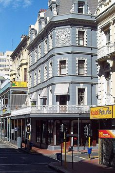 Traditional Cape Dutch architecture on Long Street. Cape Town, SOUTH AFRICA