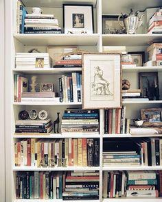 I love interesting organization in bookshelves.