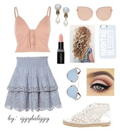 """""""Periwinkle + Pink"""" by izzybalizzy ❤ liked on Polyvore featuring St. Roche, River Island, Topshop, Chanel, Private Party, Smashbox, Paul & Pitü Naturally and Christian Dior"""