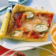 Kunterbunte Pizza