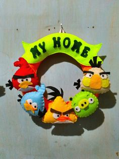 Red Angry Bird, Dinosaur Stuffed Animal, Felt, Toys, Crafts, Animals, Activity Toys, Felting, Manualidades