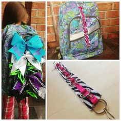 THM Backpack CHEER BOW Strap by TheHobbyMommy on Etsy, $15.00