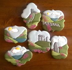 Highlands Scotland Scottish sugar cookies decorated with royal icing.