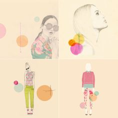 Loving these beautifully composed illustrations by Laine Fraser. Be sure to check out her portfolio and blog.