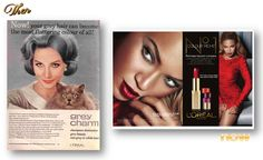 Then and Now - L'Oreal 1960s & 2011  Oh my! How the beauty industry has changed in the past 50 years!
