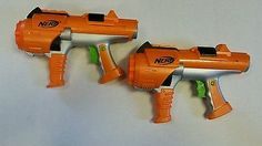 Lot of 2 Nerf Dart Tag Guns Hyperfire Rotating Barrel 10 Shot! Work Great!