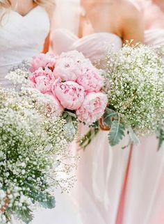 Perfect. Peonies for my bouquet, baby's breath for my girls.