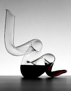 Perfect for wine aficionados, the Riedel Boa Decanter serves both as a wine essential to infuse air into your favorite wine as well as a stunning piece of artwork for your table.