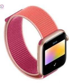 Strap For Apple Watch band 44 applewatch bracelet correa pulseira nylon loop watchband iwatch 5 4 3 series Apple Watch 38, Apple Watch Bands, Red Band, Blue Band, Peace And Security, Pin On, Hook And Loop Fastener, Pink Sand, Technology Gadgets