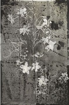 Winterlace II, 1954 The original canceled, together with a posthumous print taken from the plate British, Plate, Watercolor, Ink, The Originals, Drawings, Modern, Prints, Flowers