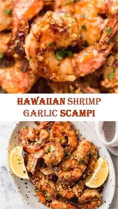 ★★★★★ 1369 Reviews: My BEST #Recipes >> Hawaiian #Shrimp Garlic Scampi | 1000 Hawaiian Garlic Shrimp, Garlic Shrimp Scampi, Shrimp And Asparagus, Hawaii Garlic Shrimp Recipe, Spicy Garlic Shrimp, Grilled Shrimp, Shrimp Dishes, Shrimp Recipes, Salmon Recipes