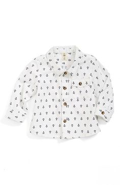 Nordstrom Baby Anchor Print Woven Shirt (Baby Boys) available at #Nordstrom