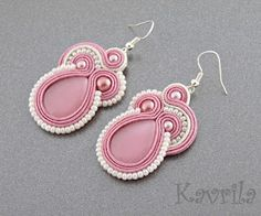 Kavrila - handmade jewellery and accessories Soutache Earrings, Bridal Sets, Handmade Accessories, Beading, Jewelry Design, Craft Ideas, Jewellery, Embroidery, Bracelets