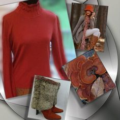 HPWHITE & WARREN Beautiful color for fall that you can pair with so many things..pretty autumn burnt orange, with ruching at the neck and bottom of sleeves.. Pretty detail and has some stretch.. White + Warren Sweaters